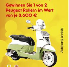 Peugeot Roller zu gewinnen