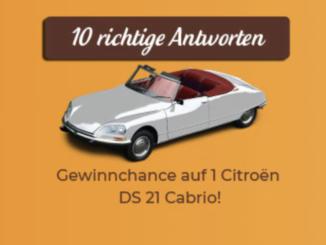 Citroen Cabrio zu gewinnen