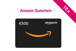 500 EUR Amazon Gutschein zu gewinnen