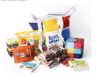 Ritter Sport Pakete zu gewinnen
