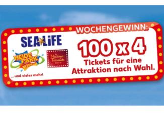 100x 4 Tickets für den Freizeitpark deiner Wahl