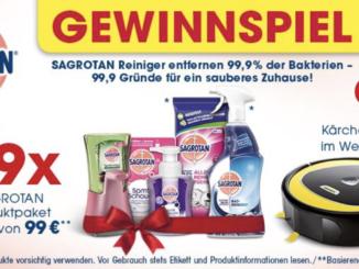 Kärcher Saugroboter und Sagrotan Produktpakete zu gewinnen