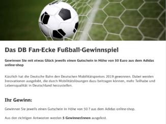 50 EUR Adidas Gutscheine zu gewinnen
