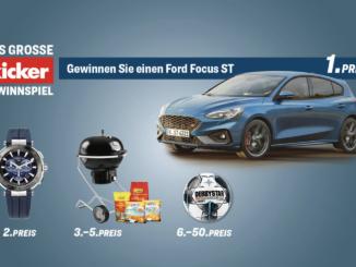Ford Focus zu gewinnen und weitere spannende Preise
