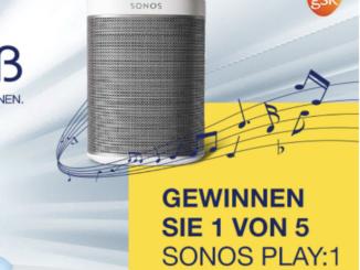 Sonos Bluetooth Lautsprecher Play 1 zu gewinnen