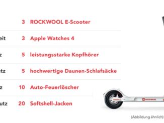 3 E-Scooter mit Rockwell zu gewinnen