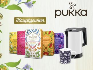 Pukka Tee Set, Wasserkocher und Becher zu gewinnen
