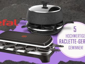 5x Raclette Geräte von Tefal zu gewinnen