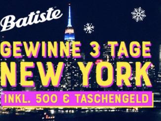 New York Reise und 500 EUR Taschengeld zu gewinnen