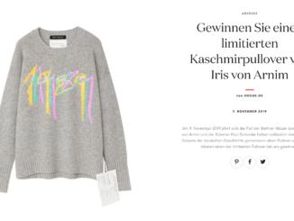 Designer Pullover von Iris von Arnim zu gewinnen