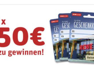 25x 50 EUR REWE Gutscheine zu gewinnen