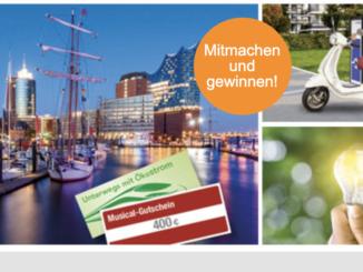 E-Roller oder ein Wochenende in Hamburg für zwei Personen zu gewinnen