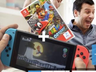 Nintendo Switch mit Super Mario Odyssey-Spiel zu gewinnen
