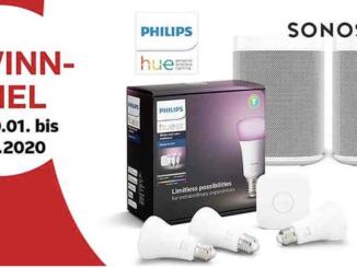 2er Set Sonos Smart Speaker oder 1 von 5x Philips Hue Lichtsets zu gewinnen
