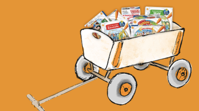Bollerwagen mit Ravensburger Geschenke zu gewinnen