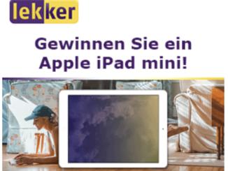 iPad Mini zu gewinnen mit Lekker Strom