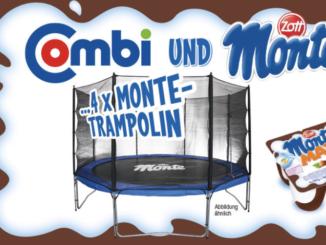 4x Trampolin von und mit Monte zu gewinnen