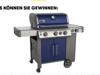 Weber Genesis II EP-335 Grillstation zu gewinnen im Wert von 1.400 EUR