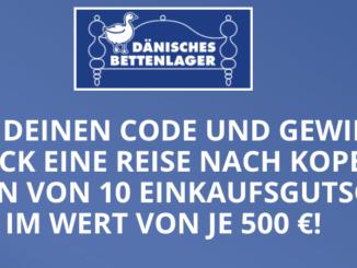 Dänische Bettenlager Gutscheine im Wert von über 500 EUR zu gewinnen