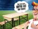 Bierbank-Gartnitur mit Tisch und Bänken zu gewinnen