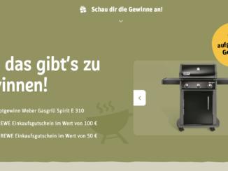 3x Weber Gasgrill und REWE Gutscheine im Wert von 6.000 EUR zu gewinnen