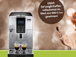 De'Lomghi Kaffeevollautomat im Wert von 600 EUR zu gewinnen