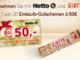 20 Netto Einkaufsgutscheine je im Wert von 50 EUR zu gewinnen