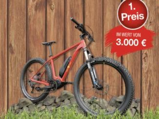 E-Bike im Wert von 3.000 EUR zu gewinnen