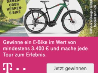 E-Bike im Wert von 3.500 EUR zu gewinnen
