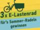 3x hochwertige E-Lastenräder zu gewinnen