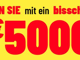5.000 EUR Bargeld zu gewinnen