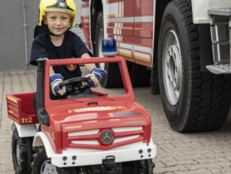 Kinder-Feuerwehrauto zu gewinnen