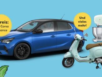 Opel Corsa und Vespa zu gewinnen mit Kaufland