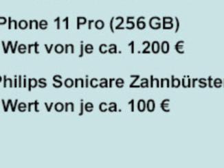2x iPhone 11 im Wert von 1.200 EUR zu gewinnen