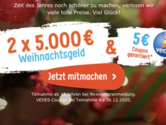 2.500 EUR Weihnachtsgeld zu gewinnen