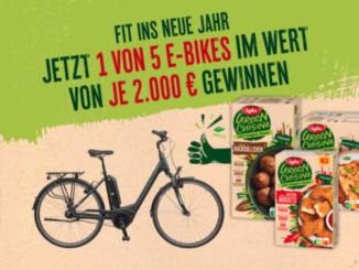 5 E-Bikes jeweils im Wert von 2.000 EUR zu gewinnen